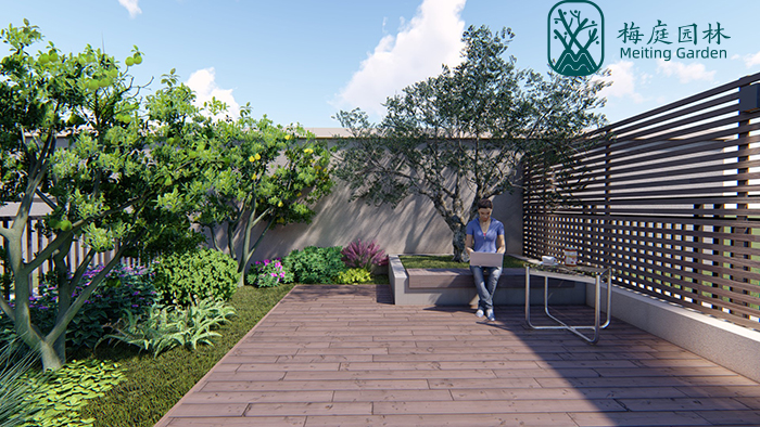 南京瑞安翠湖山别墅庭院、露台花园设计案例